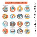 seo and development. set of...   Shutterstock .eps vector #1027665175