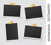 set of vintage photo frame with ... | Shutterstock .eps vector #1027666591