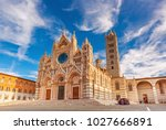 siena cathedral  duomo di siena ... | Shutterstock . vector #1027666891