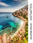 alanya town of antalya province ... | Shutterstock . vector #1027667251