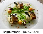grilled foods. grilled fish... | Shutterstock . vector #1027670041