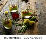 snack from salmon and puree... | Shutterstock . vector #1027670389