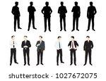 businessmen  standing  group... | Shutterstock .eps vector #1027672075