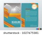 abstract vector modern flyers... | Shutterstock .eps vector #1027675381
