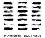 vector brush paint  ink black...   Shutterstock .eps vector #1027675501