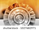 steel industrial detail part of ... | Shutterstock . vector #1027682971