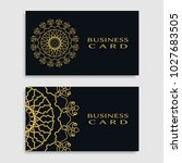 business card templates set... | Shutterstock .eps vector #1027683505
