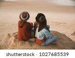 three best friends near the... | Shutterstock . vector #1027685539