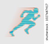 image of a runner  athlete... | Shutterstock .eps vector #1027687417