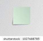 paper sticker with shadow on... | Shutterstock .eps vector #1027688785