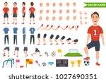 footballer character... | Shutterstock .eps vector #1027690351