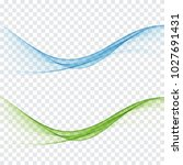 smooth flow the waves of smoke... | Shutterstock .eps vector #1027691431