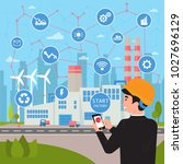 smart factory. internet of... | Shutterstock .eps vector #1027696129