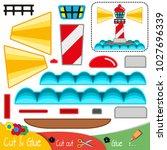 lighthouse illuminating the...   Shutterstock .eps vector #1027696339