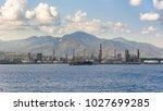 industrial zone in milazzo town ... | Shutterstock . vector #1027699285