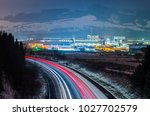 night road and manufacturing... | Shutterstock . vector #1027702579