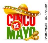 cinco de mayo emblem design... | Shutterstock .eps vector #1027708885
