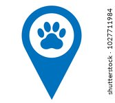 pets here pinpoint icon. pet... | Shutterstock .eps vector #1027711984