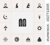 set of 13 editable dyne icons....