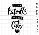 less catcalls  more cats.... | Shutterstock .eps vector #1027713397
