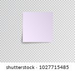 paper sticker with shadow on... | Shutterstock .eps vector #1027715485