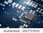 electronic chip component on... | Shutterstock . vector #1027717015