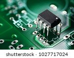 electronic chip component on... | Shutterstock . vector #1027717024