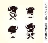 chef hats set. vector | Shutterstock .eps vector #1027717414