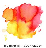 colorful abstract watercolor... | Shutterstock .eps vector #1027722319