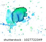 colorful abstract watercolor... | Shutterstock .eps vector #1027722349
