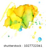 colorful abstract watercolor... | Shutterstock .eps vector #1027722361