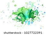 colorful abstract watercolor... | Shutterstock .eps vector #1027722391