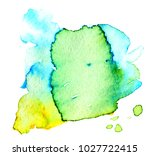 colorful abstract watercolor... | Shutterstock .eps vector #1027722415