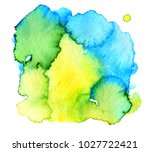 colorful abstract watercolor... | Shutterstock .eps vector #1027722421