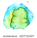 colorful abstract watercolor... | Shutterstock .eps vector #1027722427