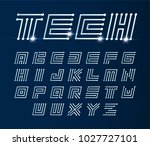 font maze italic  vector... | Shutterstock .eps vector #1027727101