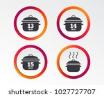 cooking pan icons. boil 13  14... | Shutterstock .eps vector #1027727707