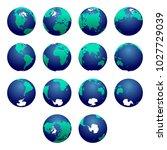 planet earth vector...   Shutterstock .eps vector #1027729039