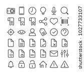 universal linear icons set for... | Shutterstock .eps vector #1027733107