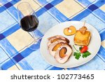 stuffed rabbit filled with... | Shutterstock . vector #102773465
