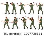 warriors men in set 01   Shutterstock .eps vector #1027735891
