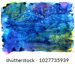colorful abstract watercolor... | Shutterstock .eps vector #1027735939