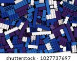 lot of white  cyan  blue and... | Shutterstock . vector #1027737697