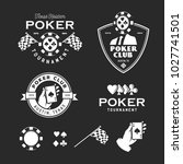 poker related labels emblems... | Shutterstock .eps vector #1027741501