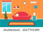 living room interior vector...   Shutterstock .eps vector #1027741585