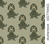 seamless pattern with a sitting ...   Shutterstock . vector #1027743421