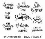 summer hand drawn brush... | Shutterstock .eps vector #1027746085