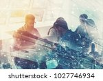 businessmen that work together...   Shutterstock . vector #1027746934