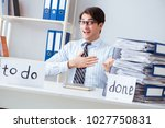 businessman working on his to... | Shutterstock . vector #1027750831