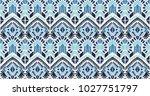 ikat geometric folklore... | Shutterstock .eps vector #1027751797